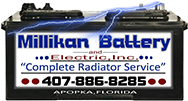 Millikan Battery and Electric Inc footer logo
